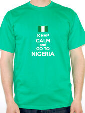 KEEP CALM AND GO TO NIGERIA - Nigerian / Fun / Novelty Themed Mens T-Shirt