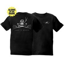 """Peace Frogs, Rest in Peace """"glow in the dark"""" Youth T-Shirt 100% Cotton"""