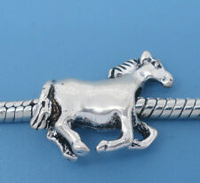 NEW Silver Tone Running Wild Horse Charm Beads Fits Most European Charm Bracelet