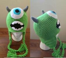 Hand Crochet Monster Inc MIKE Beanie / Hat Made to Order NEW!