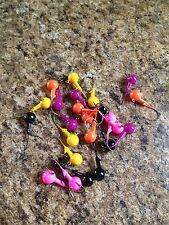 40 Piece Bass and Walleye Fishing Kit Incl 1/4oz Roundhead Jigs & Grubs