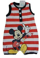 Beautiful Baby Boys 1 Piece Mickey Mouse Disney Summer Cotton Romper