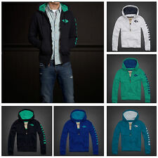 HOLLISTER MENS ''TOURMALINE'' SUPER-SOFT FLEECE HOODIES [BNWT] XL, L, M, S