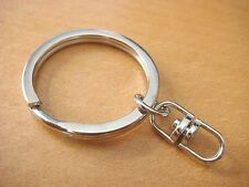 Key Chains with Swivel Connectors Key Ring 25,50,100,200 U Pick H10