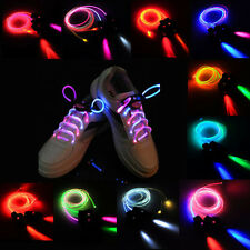 Muti-color LED Shoelaces Flash Light Glow Shoes Lace String Disco Bar Party Gift