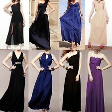 New Beach Formal Bridesmaid Party Cocktail Evening Prom Gown Long Dresses Colors