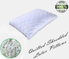 Shredded Natural Latex Pillow-FREE matching Organic Cotton Pillow Case-ALL SIZES