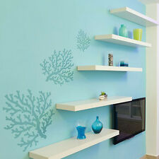 Coral Wall Art Stencil - DIY Reusable stencils, better than wallpaper