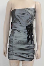 NEW GREY COCKTAIL PARTY BRIDESMAIDS PROM DRESS 8-14 ***FREE UK POSTAGE***