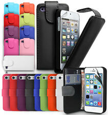 FLIP LEATHER CASE COVER FITS APPLE IPHONE 4 4S 5 FREE SCREEN PROTECTOR