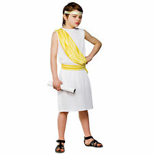 Child Boys Ancient Greek Boy Costume Fancy Dress Up Role Play Party Halloween