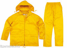 Delta Plus Panoply EN400 Yellow Waterproof Rainsuit Trouser Jacket Coat Clothing