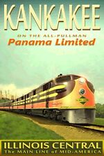 Illinois Central PANAMA LIMITED Railroad Chicago to New Orleans Train Poster 115