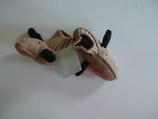 NWT HOLIDAY TRADITIONS MOOSE SLIPPERS BOOTIES CHRISTMAS HOLIDAY XMAS LAYETTE