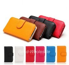Women Wallet Flip Leather Stand Cover Mobile Phone Case for iPhone 4,4S