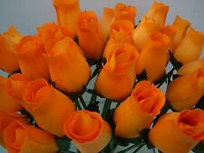 ORANGE WHOLESALE ARTIFICIAL WEDDING FLOWERS GIFT WOODEN ROSES FLORAL SUPPLIES