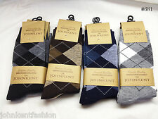 Wholesale Lot 12 Dz - 144 Pairs Men's Dress Socks Diamond  Argyle Solid Stripe
