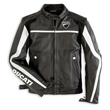 Ducati Twin Leather Motorcycle Jacket by Dainese Perforated & Non-Perforated