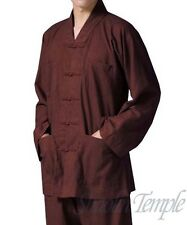 High quality shaolin uniforms kung fu wushu clothes buddhism short gown coffee