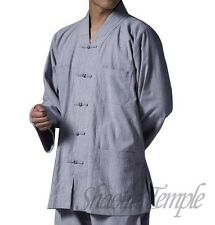 shaolin meditation clothing kung fu buddhist uniforms Martial arts blue gray