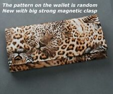 Lady Women Tiger Leopard Print Long Wallet Purse Coin Bag Card Holder Clutch