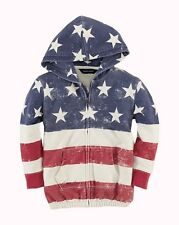 NWT Ralph Lauren Girls USA Flag Hoodie