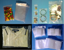 Clear Multiple Sizes (2-Mil) Ziplock Bags Reclosable Zip-lock Top Plastic Poly