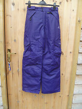DARE2BE DARE 2 BE SWITCH OVER  SKI SALOPETTES PANTS BRACES DEEP PURPLE 789101112