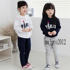 Kids Girls 2-Pieces Clothes Pullovers Sweatshirts Pants Clothing Sets 3-8Y FT148