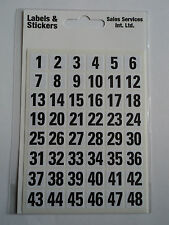A choice of Alphabet and Numbers Self-Adhesive labels FREE P & P in the UK