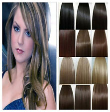 "New Any Color Long 16""18""20""22""24""26""28""30"" Remy Clip In Human Hair Extensions"