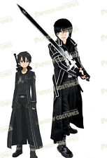 Sword Art Online Kirito Black Handmade Cosplay Costume