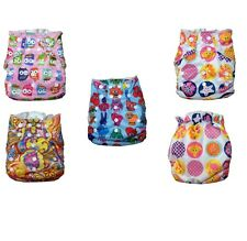 Super Cute All in One Style Cloth Diaper with inserts and gussets One Size New