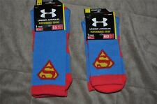 Under Armour Alter Ego SUPERMAN DC Comics Crew Socks Blue Mens M or L NWT
