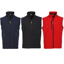 NEW MENS SOFTSHELL LEISURE WORKWEAR GILET  -SIZES XS-XXL BLACK, NAVY, RED, 8941M