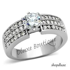 1.95 Ct Round Brilliant Cut CZ Pave Engagement Wedding Ring Women's Size 5-10