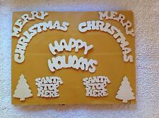 HOLIDAY UNFINISHED WOOD WORD's & SHAPE's & PIECES ~ CRAFTS ~ WREATHS ~ NEW