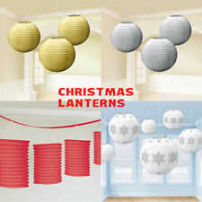 CHRISTMAS PAPER LANTERNS XMAS PARTY LAMPS DECORATIONS HOME SCHOOL OFFICE
