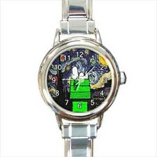 CHRISTMAS SNOOPY STARRY NIGHT VAN GOGH CHARM WATCH - 2 COLORS in 3 STYLES