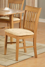 1 NORFOLK DINING ROOM KITCHEN DINETTE CUSHION OR WOOD SEAT CHAIRS IN OAK FINISH