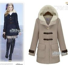 2013 Fashion Women's Single-breasted Winter Wool Hooded Jacket / Coat 2 Color#87