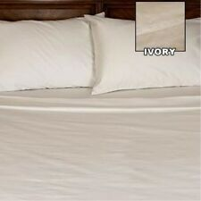 [ WHOLESALE PRICES ] 400TC 100% EGYPTIAN COTTON 1PC FLAT SHEET [ SOLID IVORY ]