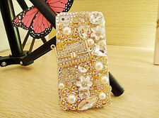 Luxury 3D Handmade Crystal Diamond Pearl Bling Handbag Purse Case iphone 4S 5 5S