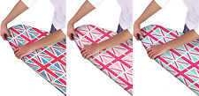 Union Jack Ironing Board Covers - Multi Fit Elastic - 3 Colours, Pink Blue Mint