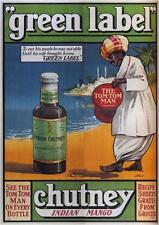 GREEN LABEL CHUTNEY - United Kingdom - 1925 - Vintage Advertisement Print SG3810