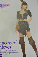RUBIES SECRET WISHES PRINCESS OF THIEVES COSTUME HALLOWEEN HEN NIGHT PARTY