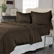 800TC 1PC FITTED SHEET BROWN SOLID 100% EGYPTIAN COTTON @ WHOLESALE PRICE SALE