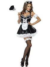 SALE! Adult Sexy Flirty French Maid Ladies Fancy Dress Costume Hen Party Outfit