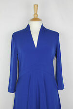 ex FCUK / French Connection Great Plains 3/4 Sleeve V Neck Dress Royal Blue
