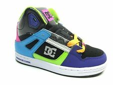 DC REBOUND YOUTH BLACK TURQUOISE GREEN KIDS GIRLS SHOES SIZE 10.5